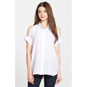 🆕 MICHAEL MICHAEL KORS WHITE COLD SHOULDER SHIRT
